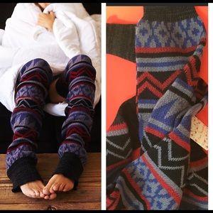"""New w/tag FREE PEOPLE LEG WARMERS 36"""" Aztec LAST!"""